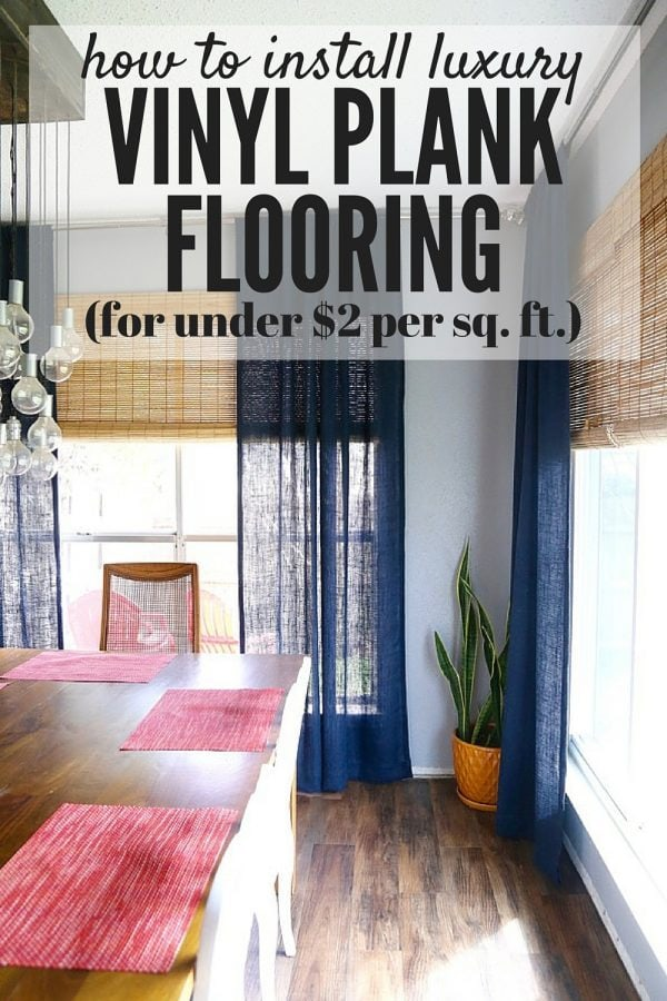 Would you believe that this flooring costs under $2 per square foot? And that's it's VINYL? This stuff is absolutely incredible, and you won't believe how simple it is to install.