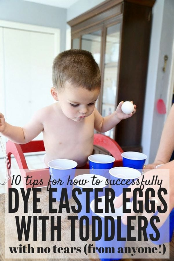 Easter eggs with toddlers