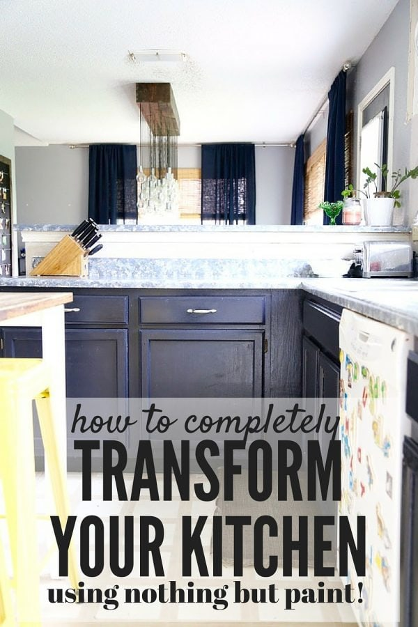 You won't even believe how simple it is to completely transform the look of your kitchen with nothing but a bit of paint! This change is incredible!