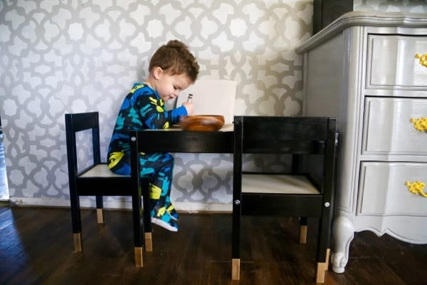 IKEA painted play table