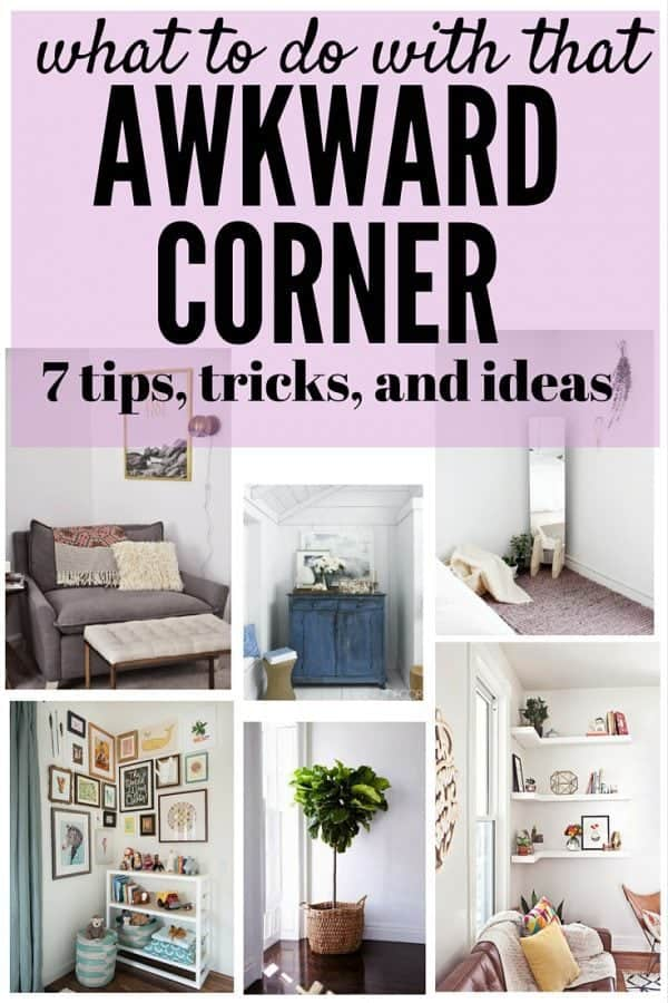 how to decorate a corner