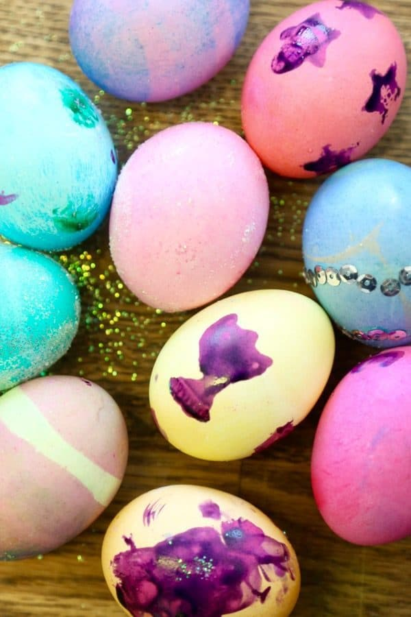 Easter eggs with young kids