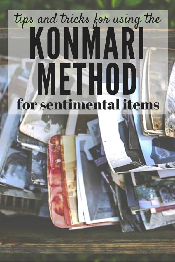 Sentimental items - how to declutter