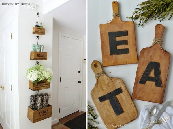 DIY idea for kitchen wall art