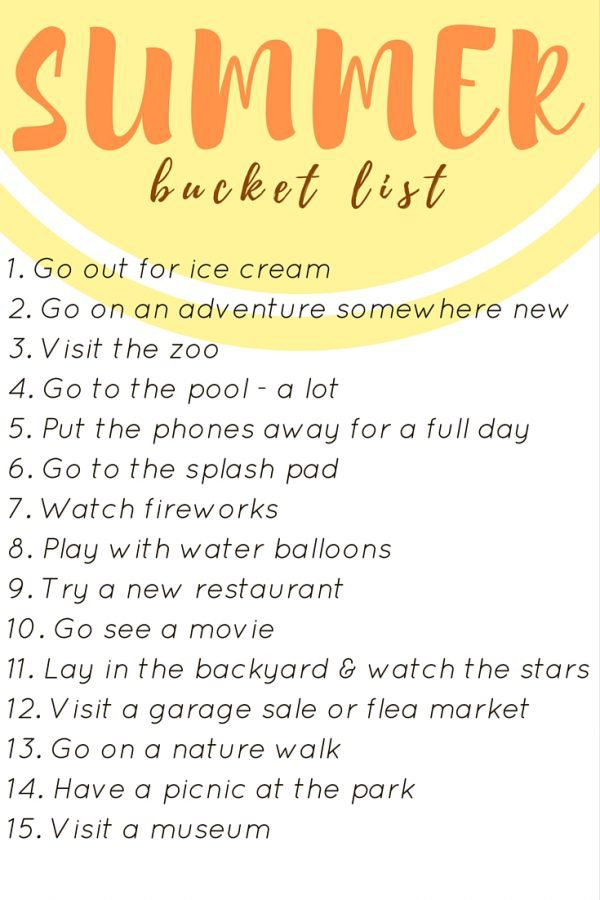 Need some ideas for what to do with your toddler or young children this summer? Here are 15 awesome ideas for your summer bucket list this year!