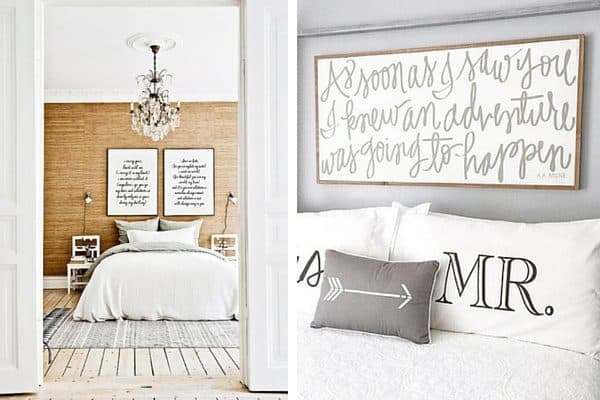 Ideas for decorating above your bed