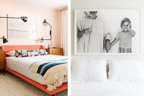 Decorating above bed