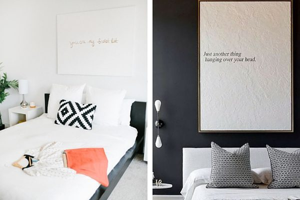Ideas for DIY decor above bed