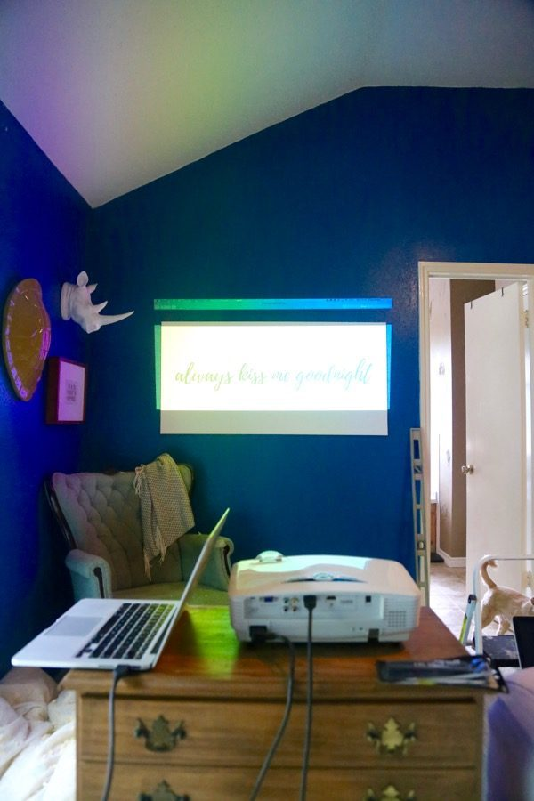 using a projector to create canvas art