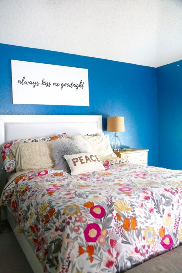 making DIY canvas art for the home
