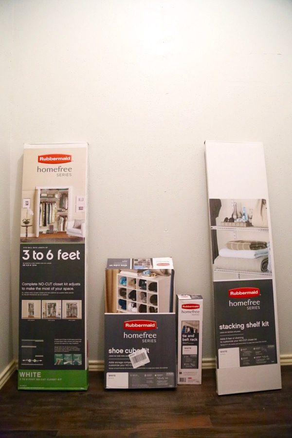Rubbermaid master closet makeover