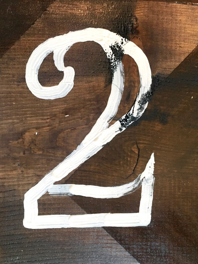 tips for painting numbers on wood