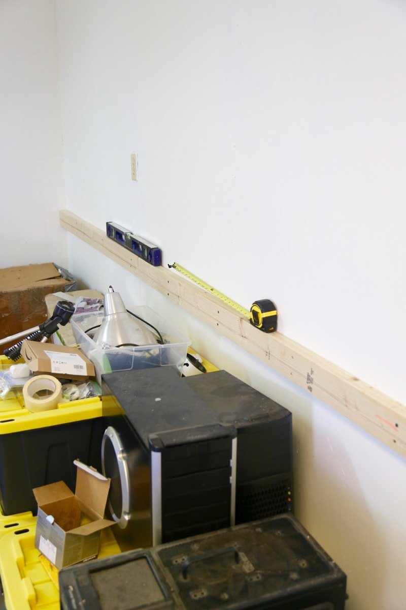 ledger board for DIY workbench