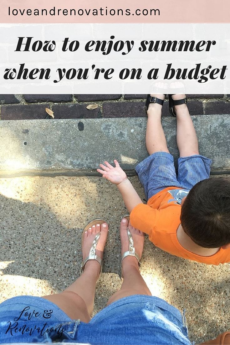 These tips for enjoying your summer when you can't afford a big vacation are awesome! it's easy to feel like you can't have any fun if you aren't going anywhere but this post is a great reminder that you definitely can!