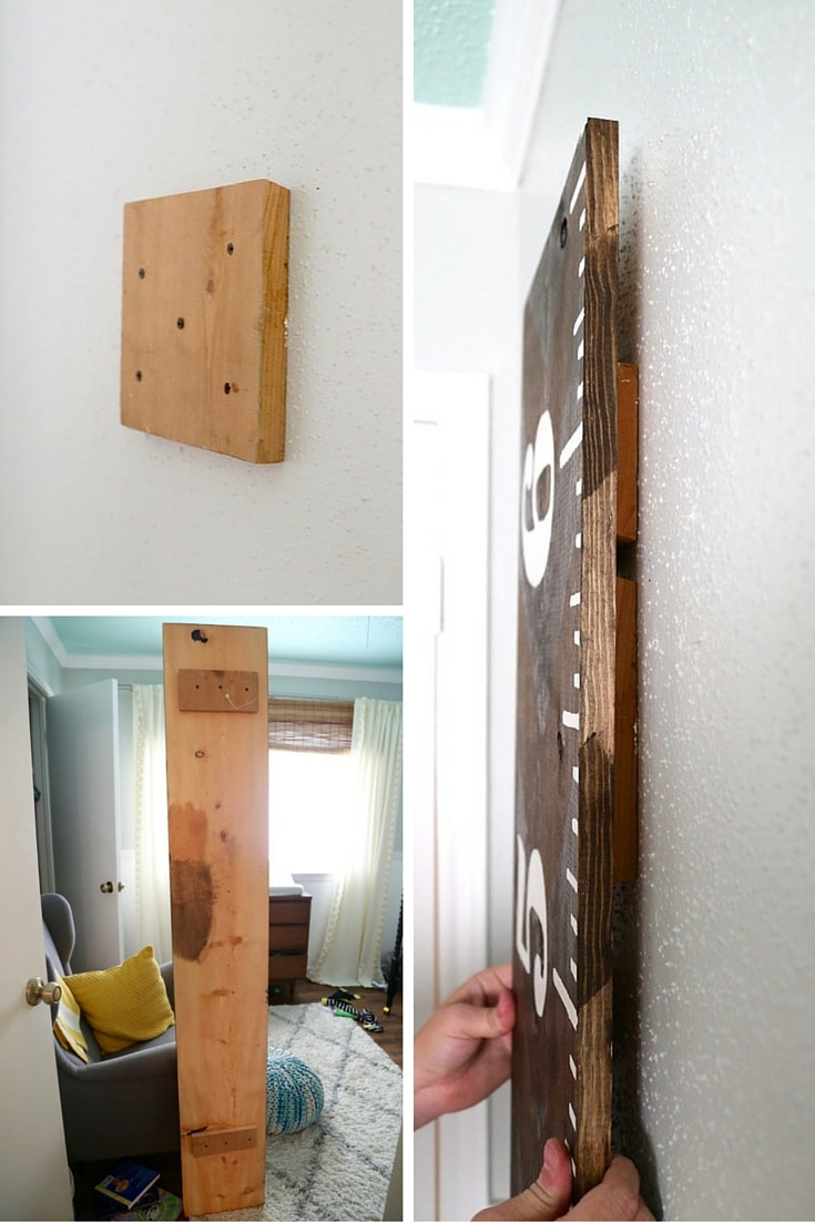 Hanging DIY growth chart ruler