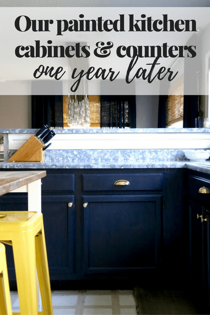 painted kitchen cabinets and countertops