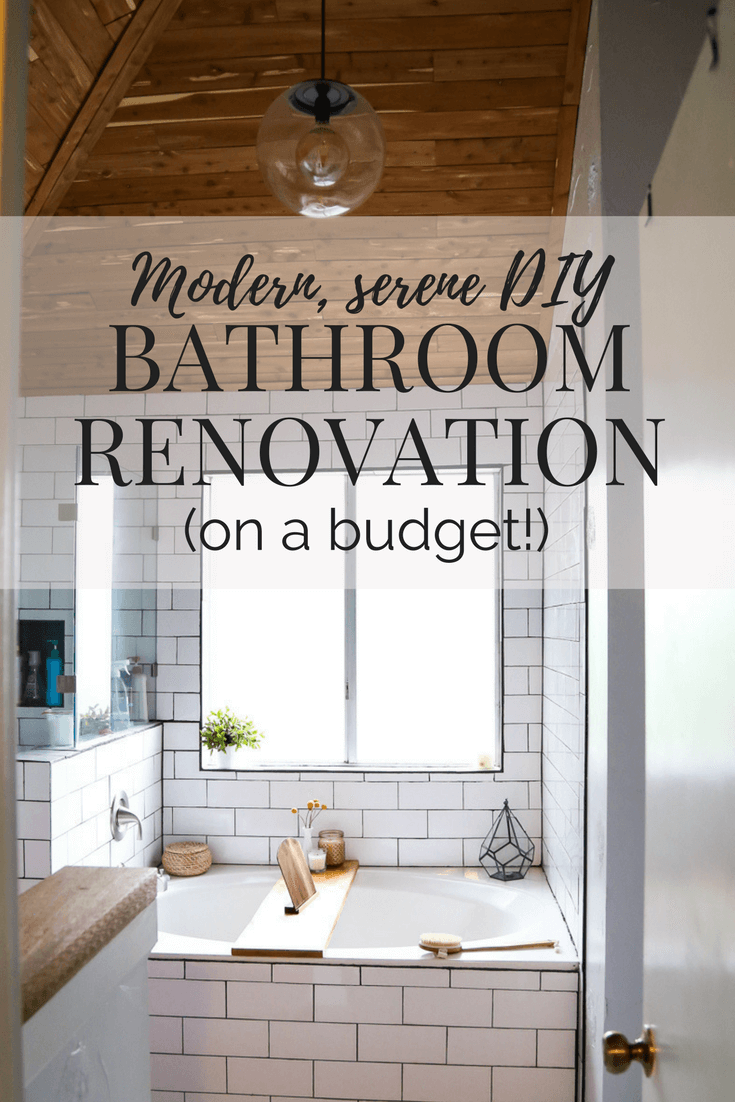 Master bathroom remodel - after image with text overlay