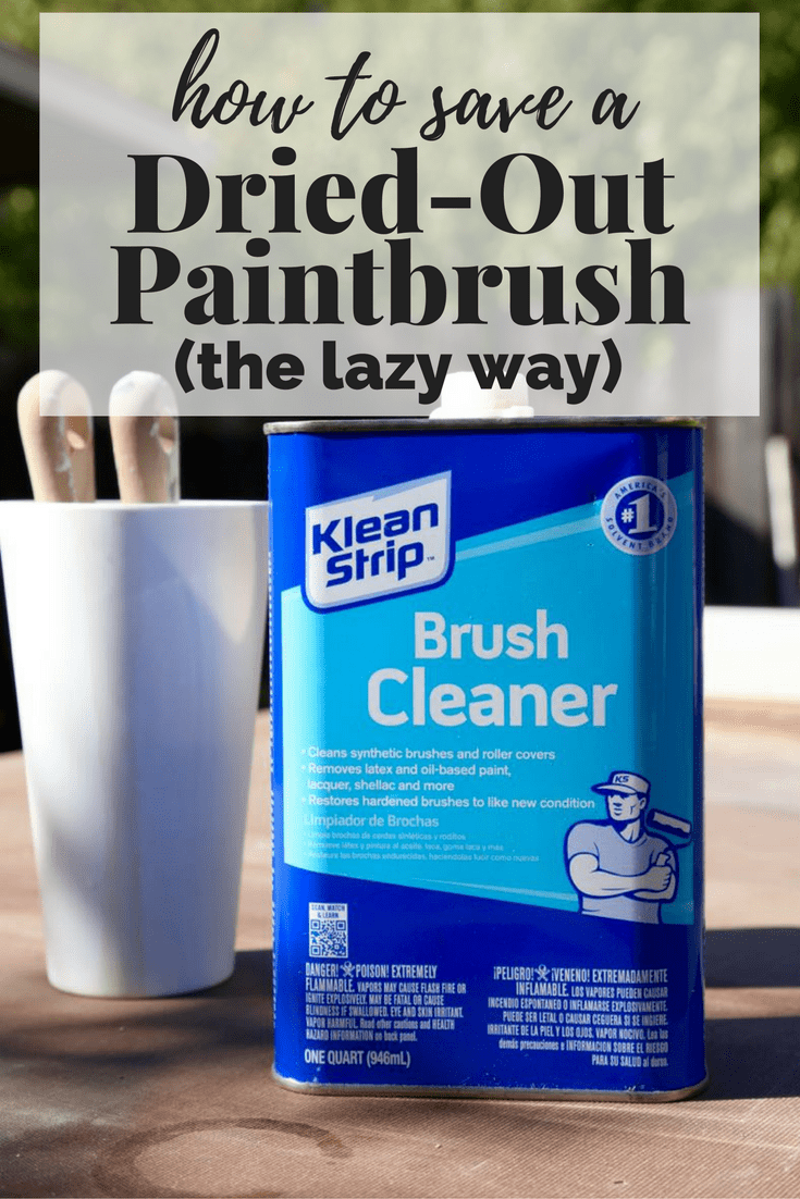 how to clean an old paintbrush