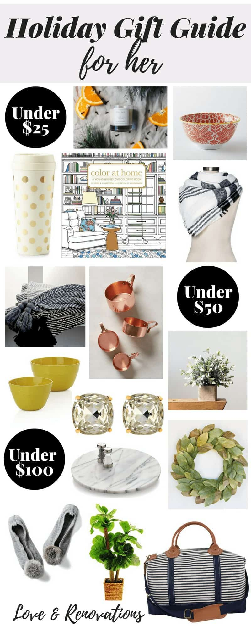 This is a great holiday gift guide for the women in your life. Tons of great ideas that are affordable, unique, and beautiful!