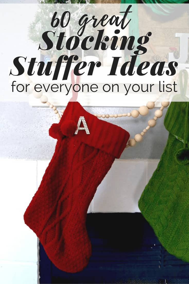 There are 60 different stocking stuffer ideas in this post for men, women, and kids! This is a really thorough list, with lots of great ideas for stocking stuffers this Christmas.