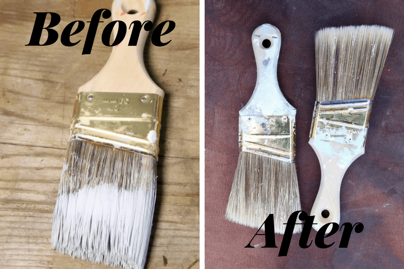 tips for cleaning a dried out paintbrush