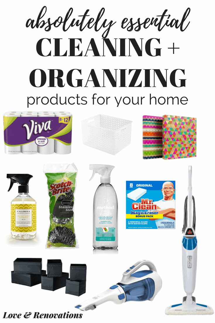 Cleaning and organizing products that you need for your home. Great ideas for spring cleaning, keeping your home organized, and staying on top of the cleaning!