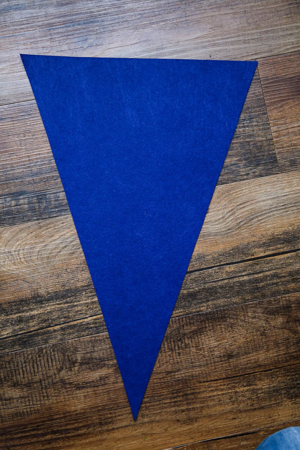 Felt pennant banner before adding name