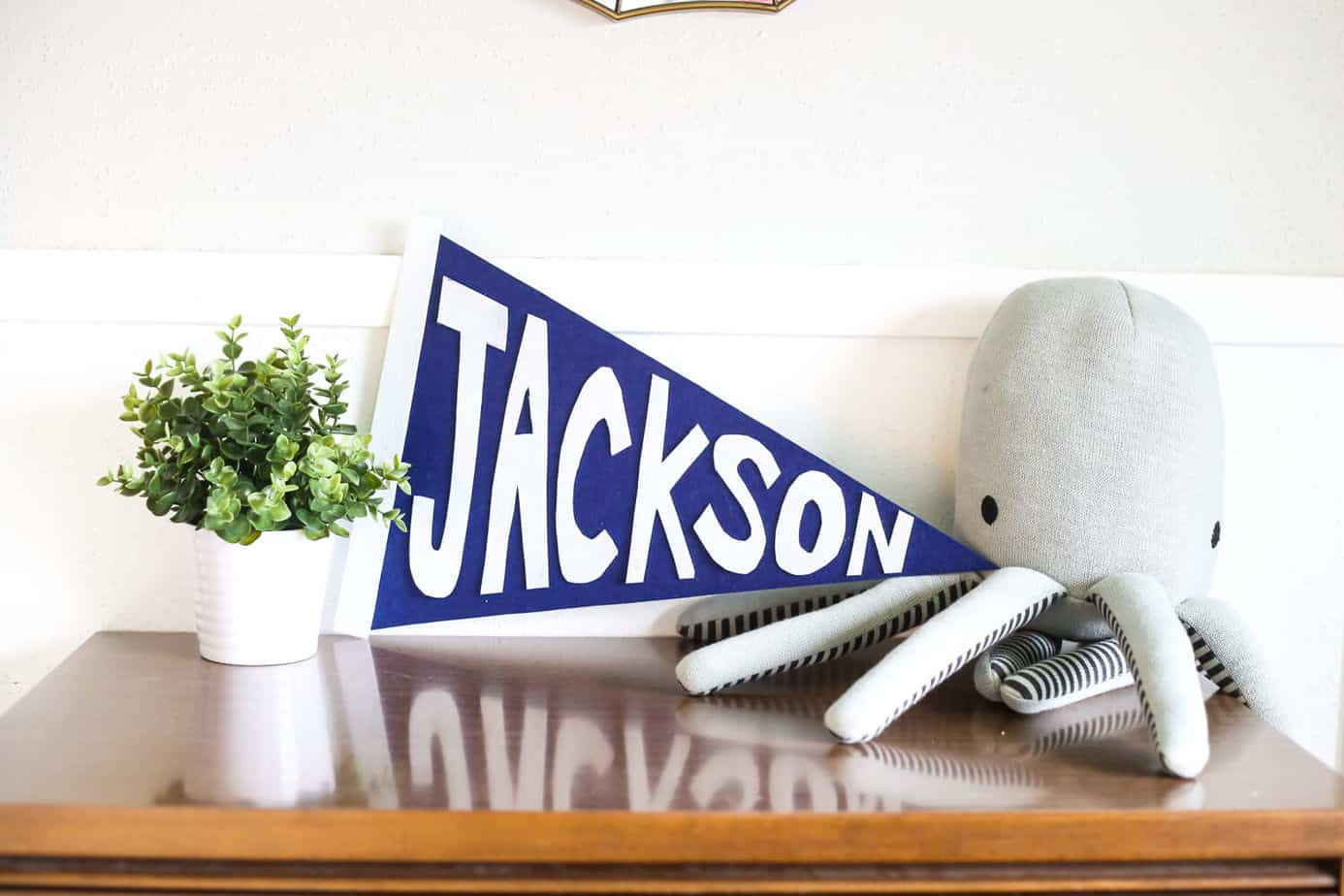DIY felt name banner tutorial