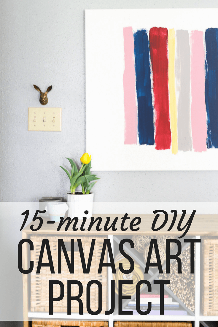"""DIY canvas brush stroke art with text overlay - """"15-minute DIY canvas art project"""""""