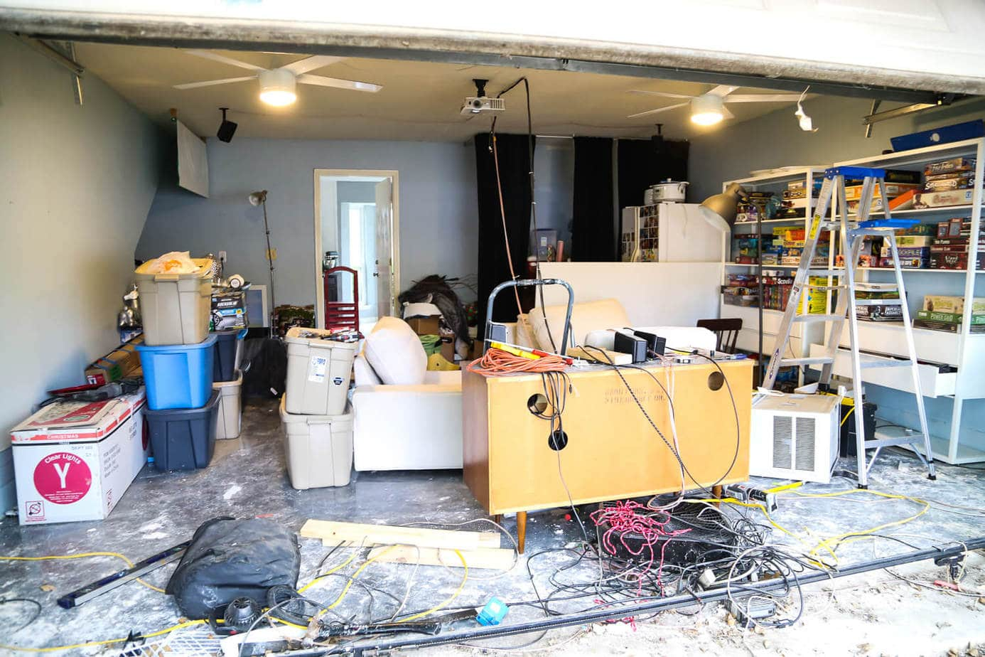 converting a media room back into a garage