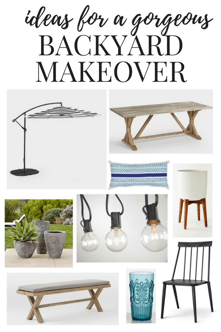 Inspiration and ideas for an affordable and beautiful backyard makeover. Great ideas for patio furniture, decorations, and planters!