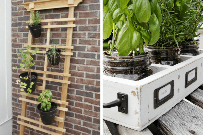 DIY gardening and planter ideas for your front or back yard.