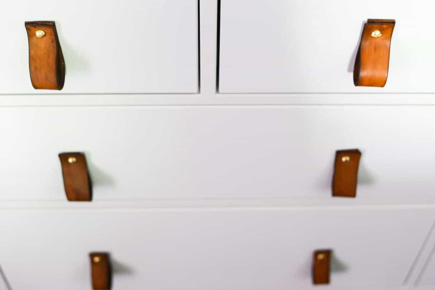 how to make easy leather drawer pulls