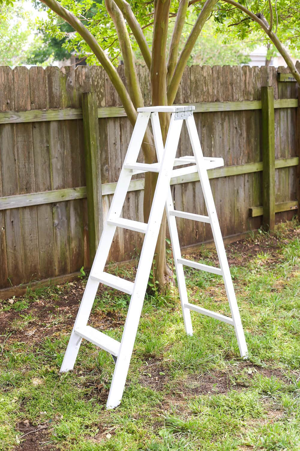 Diy Tiered Plant Stand From An Old Ladder Love Renovations