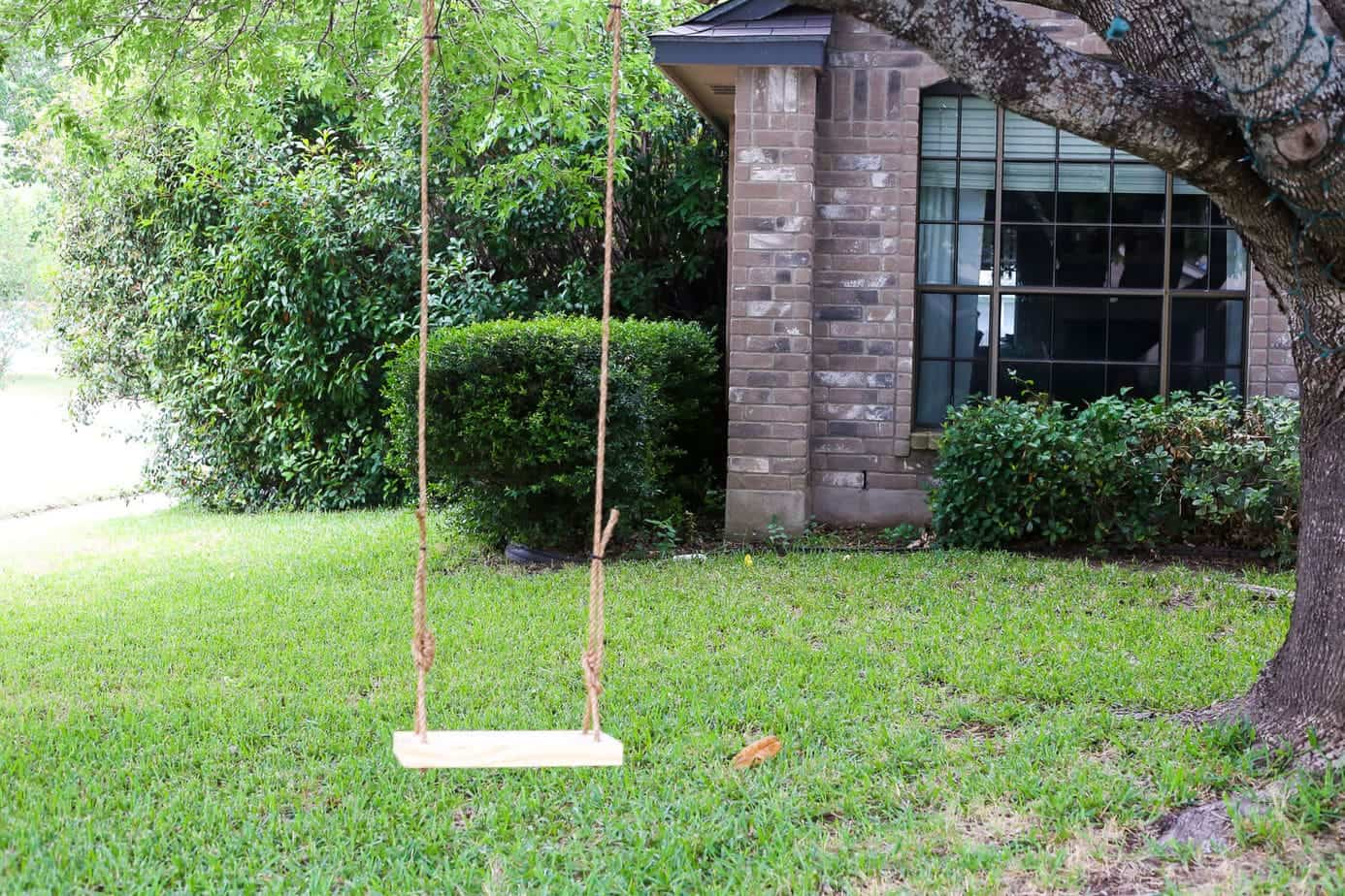 how to build a tree swing