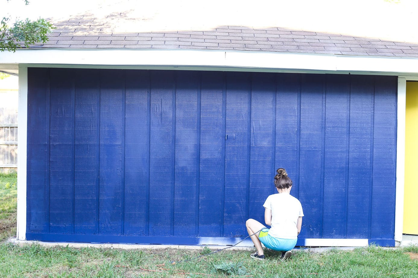 How to paint an exterior building using a paint sprayer - it will make a huge difference in how your entire yard looks and feels!