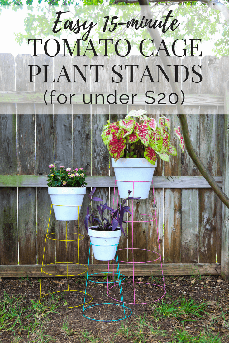 Diy Plant Stand How To Turn A Tomato Cage Into A Wire Plant Stand