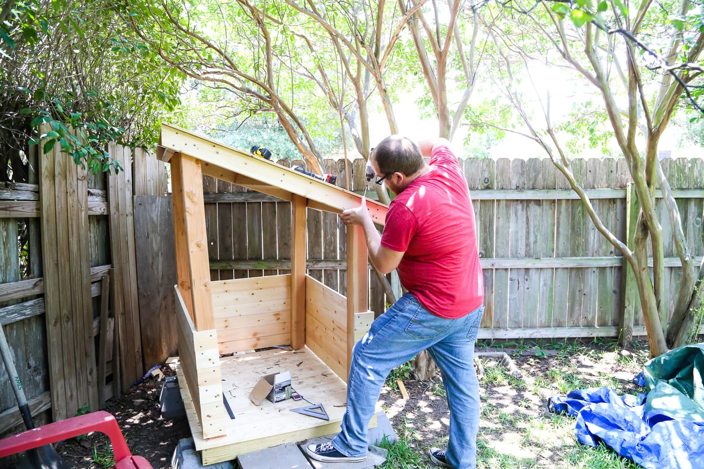 Roofing for DIY playhouse