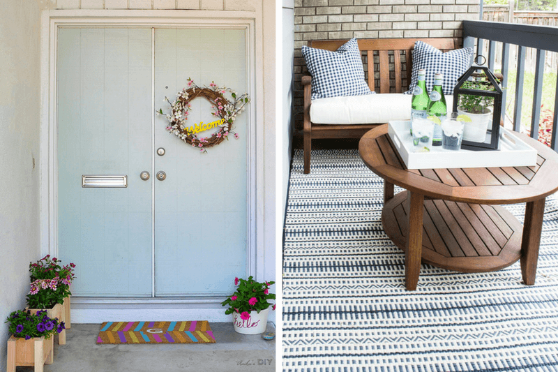 small front porch decor