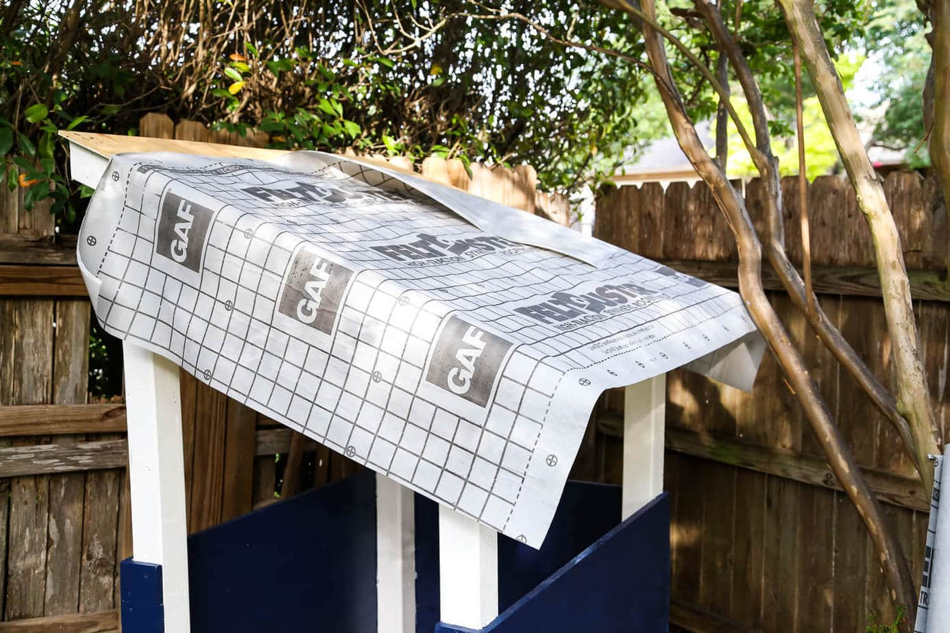 How to install roof shingles on a playhouse