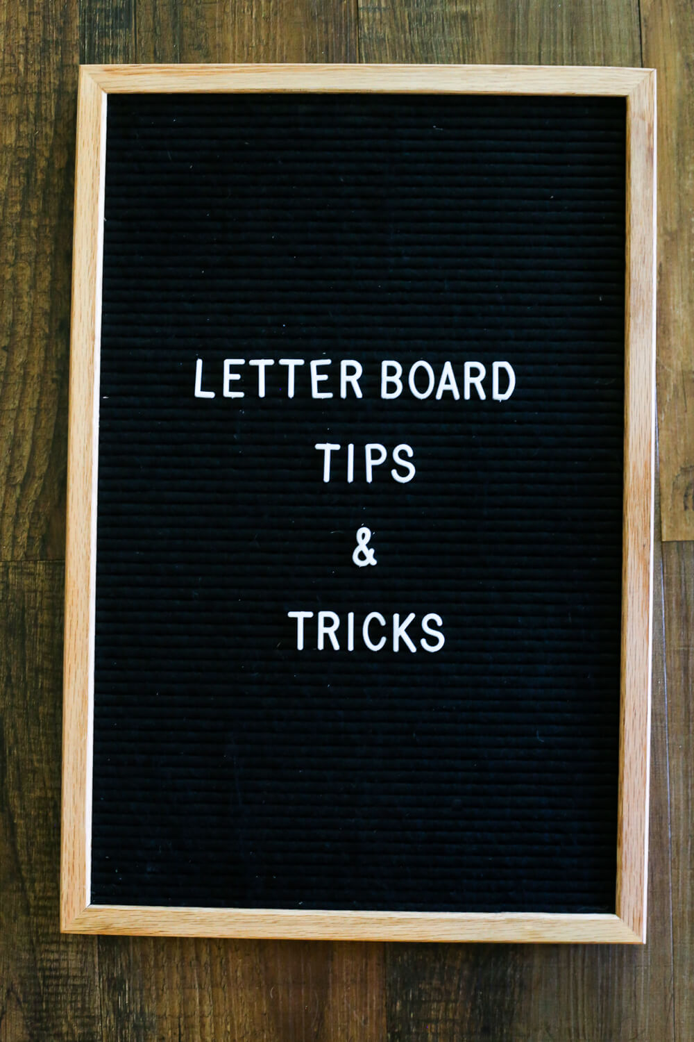 letter board tips and tricks