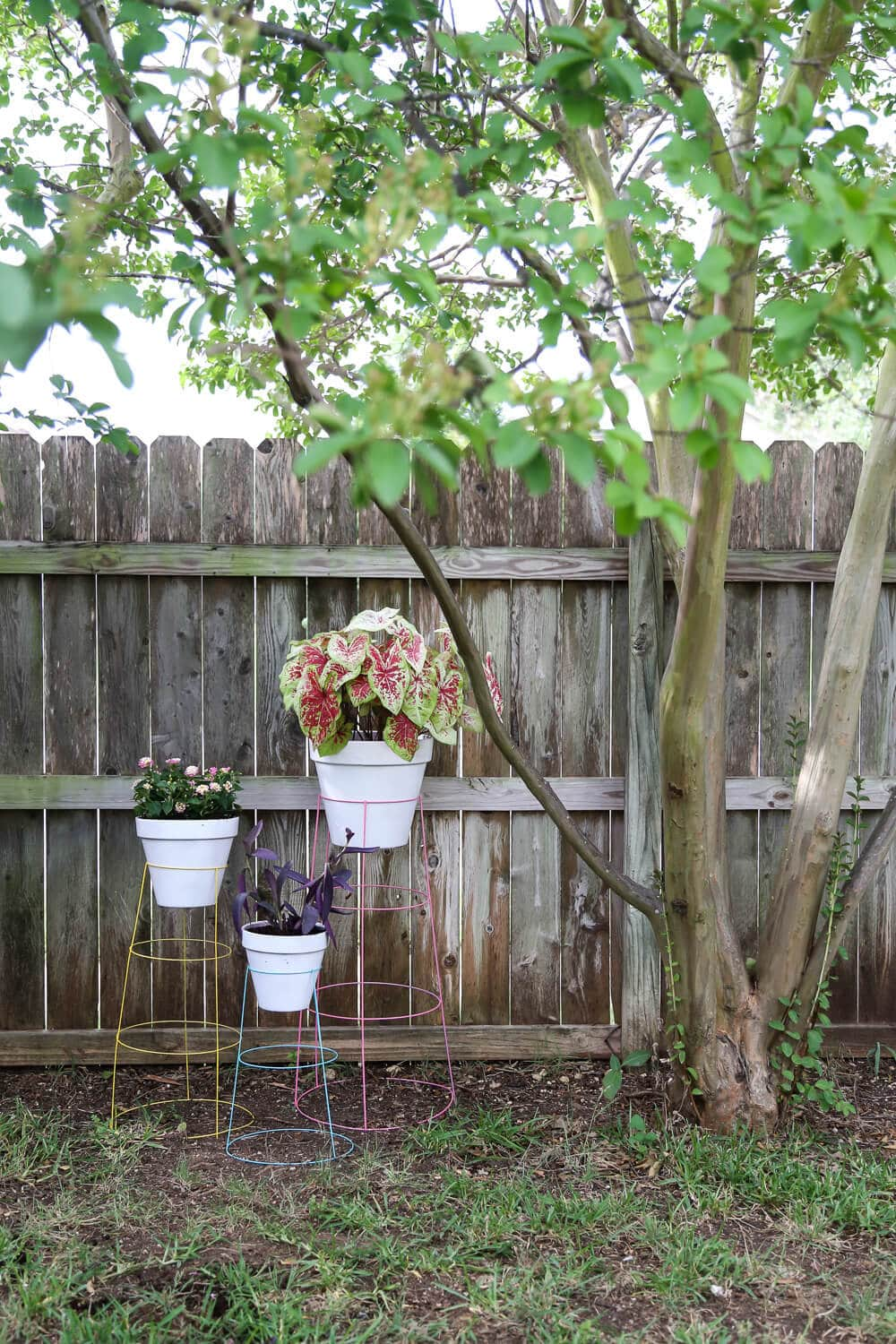 How to make a DIY plant stand for the backyard