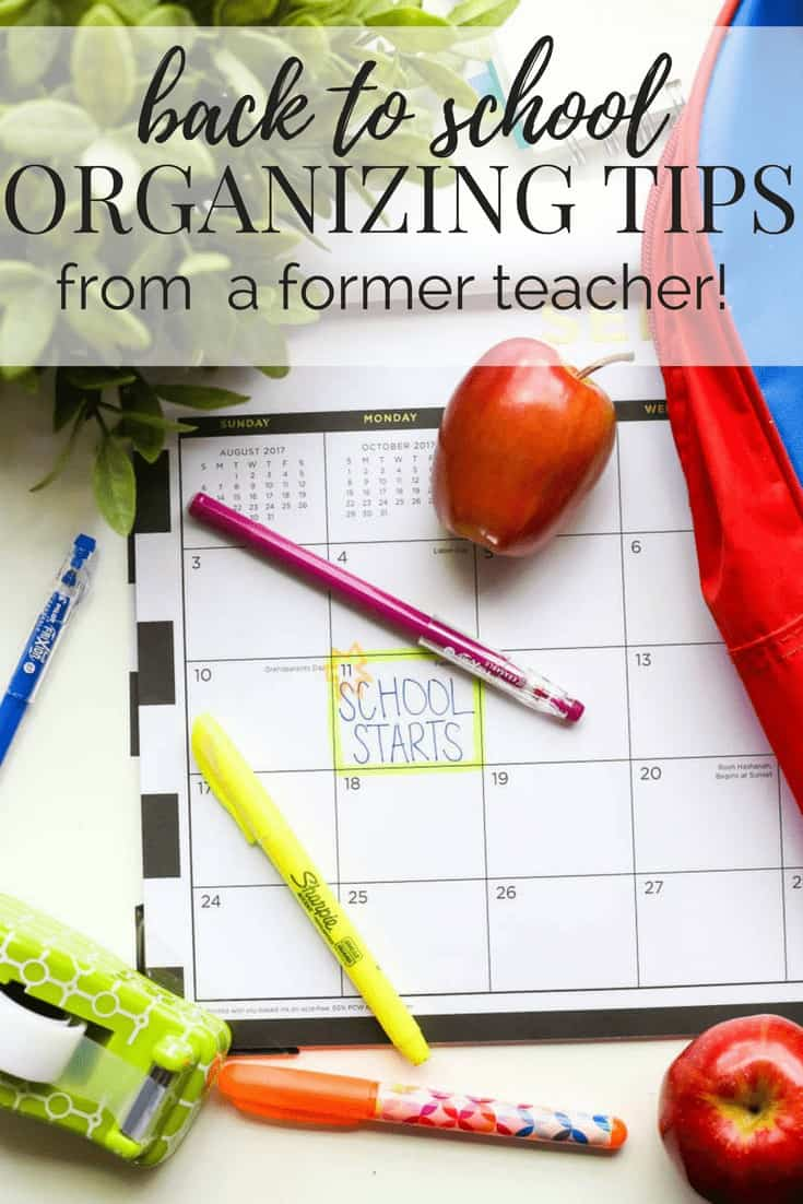 Easy, DIY back to school organization tips for young kids and moms from a former teacher! Tips on how to get organized and how to stay organized!