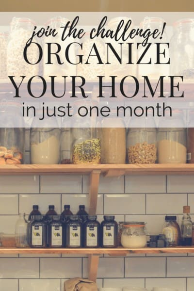 Tips for organizing and decluttering your entire home in just a month. Join this email challenge to go through the KonMari method quickly and efficiently!