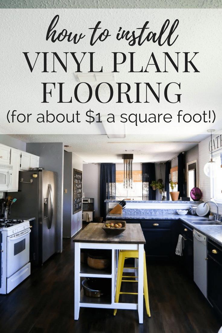 A tutorial on how to install vinyl plank flooring in your home. This post shares the details of peel and stick vinyl plank flooring, what to know, and how to install it.