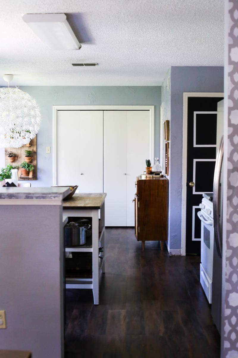 How to install vinyl plank flooring in your home, the perfect affordable options for families with kids and pets.