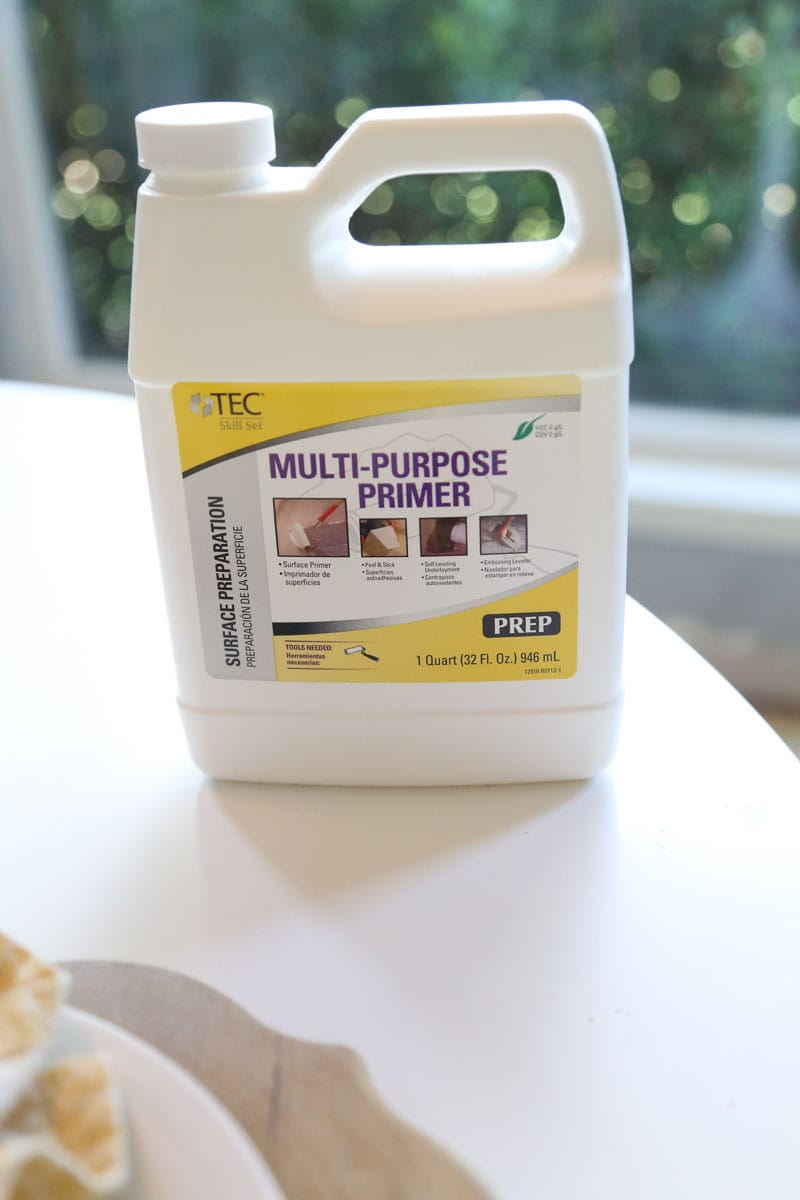 Floor primer to be used when you install vinyl plank flooring in your home