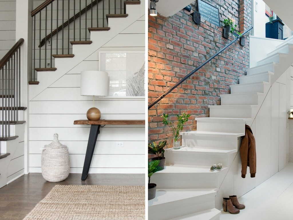 Tips and ideas for how to decorate a staircase if you don't have any ideas