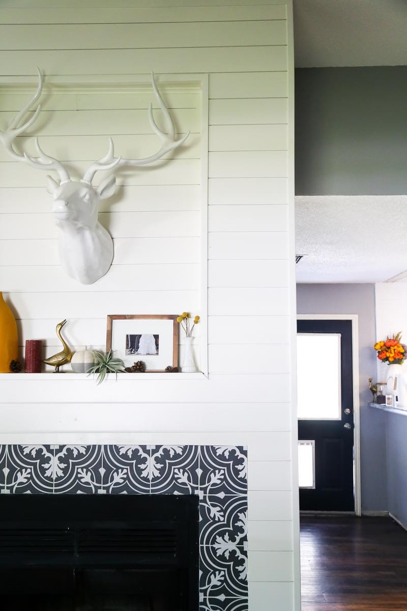 How to shiplap your fireplace to create a gorgeous new look in your space