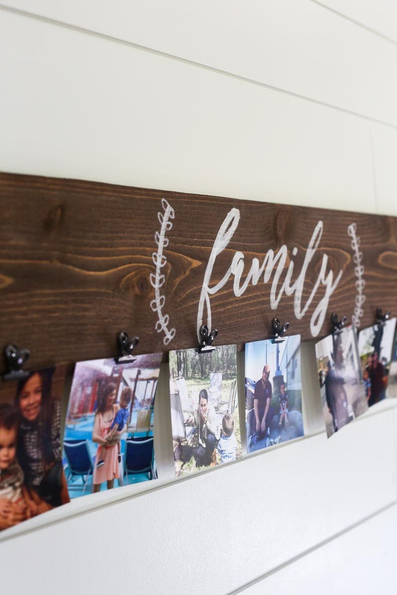 How to make an easy DIY photo display for your family photos